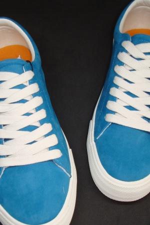 Голубые мужские мокасины от Пул&Бир Испания - Пул&Бир PB0308-sh-40