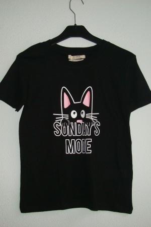 Женская футболка с котом от Пул&Бир - Пул&Бир PB0402-cl-ХS