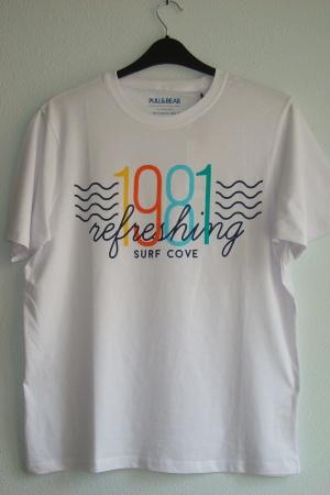 Белая мужская футболка с принтом от Пул&Бир - Пул&Бир PB0440-cl-М