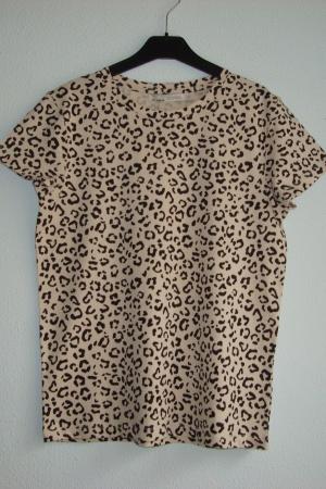 Женская футболка с леопардовым принтом от Пул&Бир (Испания) - Пул&Бир PB0515-cl-S