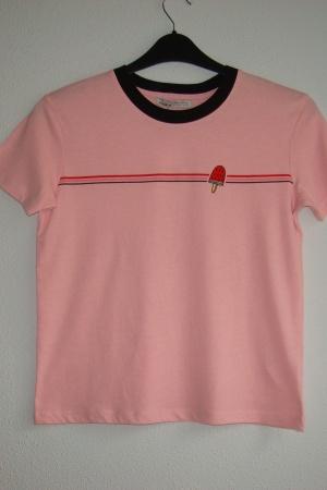 Розовая женская футболка от Пул&Бир  (Испания) - Пул&Бир PB0525-cl-S