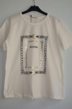 Женская футболка с принтом Excluzive (Страдивариус) - Страдивариус Str0361-cl-M