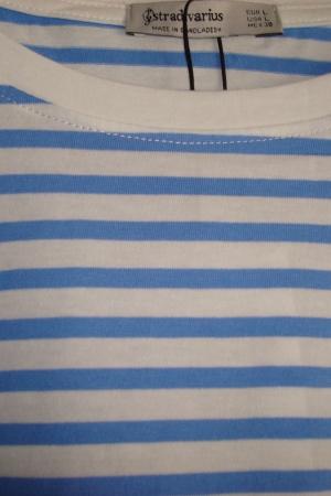 Полосатая женская футболка от Stradivarius (Испания) - Страдивариус Str0376*-cl-L #2