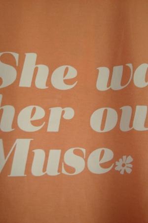 Персиковая женская футболка от Страдивариус (Испания) - Страдивариус Str0378-cl-S #2