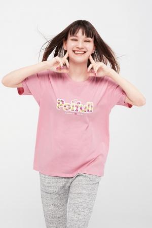 Розовая женская футболка Uniqlo - Uniqlo UN0016-cl-XS #2