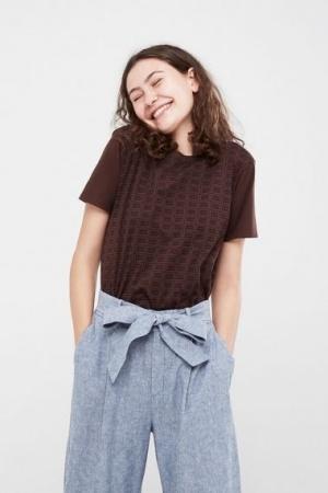 Женская футболка с шоколадным принтом Uniqlo Япония - Uniqlo UN0017-cl-XS #2