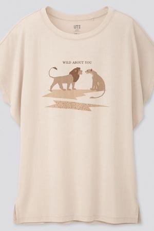 Красивая женская футболка от Uniqlo - Uniqlo UN0018-cl-XXS