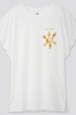 Белая женская футболка от Uniqlo (Япония) - Uniqlo UN0019-cl-XXS