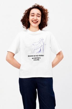 Модная женская футболка от Uniqlo (Япония) - Uniqlo UN0026-cl-XS