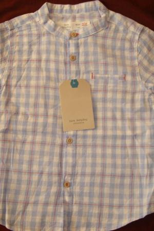 Стильная рубашка для мальчика - Зара ZR00382-b-80