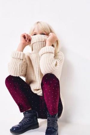 Нарядные леггинсы для девочки Zara  - Зара ZR0167-g-cl-9-10 #2