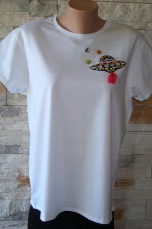 Женская футболка с планетой от Зара - Зара ZR0463-cl-L