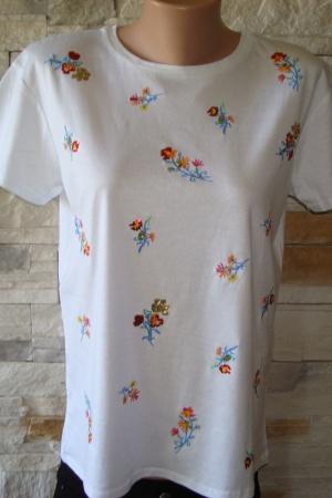 Женская футболка с цветочным принтом от Зара - Зара ZR0465-cl-М