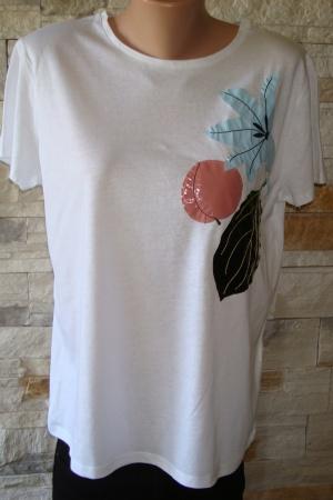Женская футболка с цветком от Зара - Зара ZR0467-cl-L