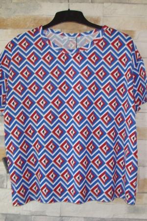 Женская футболка с ярким узором от Зара (Испания) - Зара ZR0498-cl-S