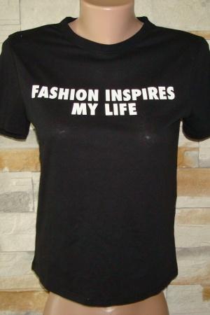 Черная женская футболка Зара (Испания) - Зара ZR0501-cl-S