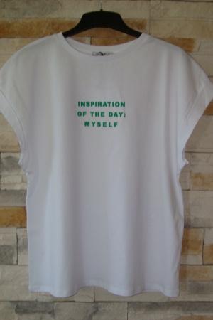 Женская футболка с текстовым принтом от Зара (Испания) - Зара ZR0533-cl-S