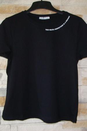 Черная женская футболка от Зара (Испания) - Зара ZR0535-cl-S