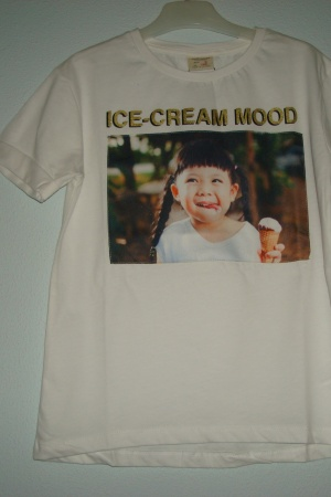 Белая футболка с принтом для девочки от Зара  - Зара ZR0548-cl-128
