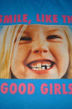 Голубая футболка с принтом для девочки от Зара  - Зара ZR0549-cl-128 #2
