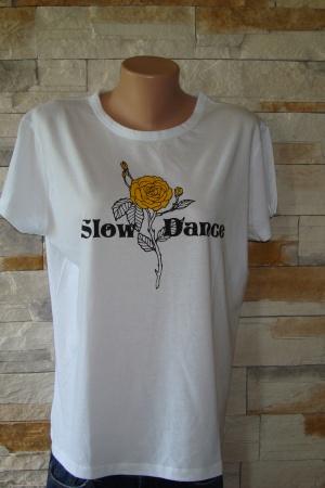 Женская футболка с розой от Зара (Испания) - Зара ZR0553-cl-L