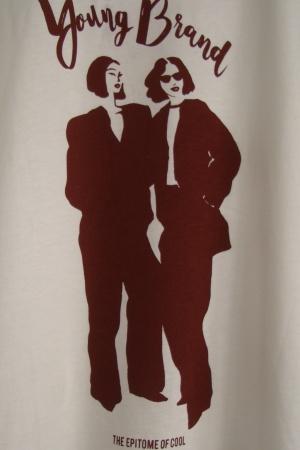 Женская футболка с принтом Young Brand от Зара  - Зара ZR0585-cl-S #2