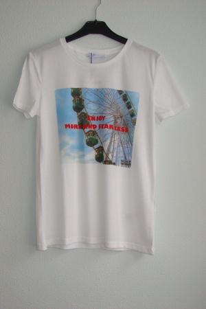 Женская футболка с красивым принтом  от Зара  - Зара ZR0588-cl-S