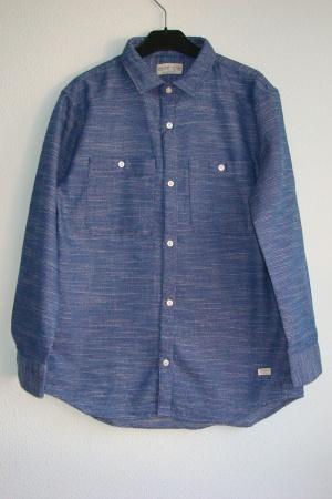 Синяя рубашка для мальчика от Зара (Испания) - Зара ZR0633-cl-152