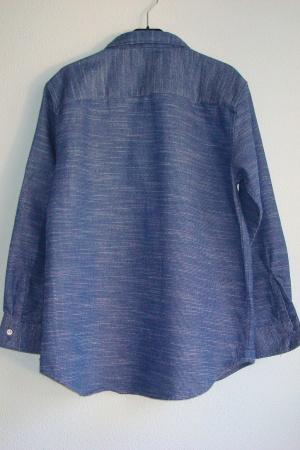 Синяя рубашка для мальчика от Зара (Испания) - Зара ZR0633-cl-152 #2