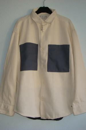 Бежевая рубашка для мальчика от Зара  - Зара ZR0636-cl-152