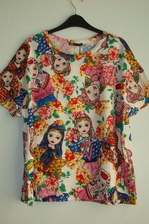 Женская футболка с принтом  Зара - Зара ZR0661-cl-L