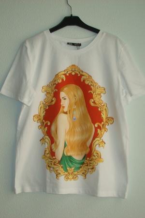 Женская футболка с принтом  Зара (Испания) - Зара ZR0669-cl-S