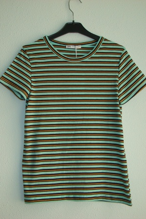 Женская футболка в полоску от Зара (Испания) - Зара ZR0670-cl-S