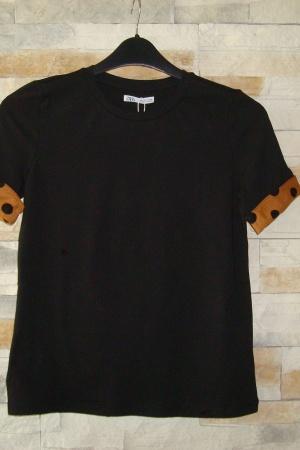 Черная женская футболка Зара (Испания) - Зара ZR0674-cl-M