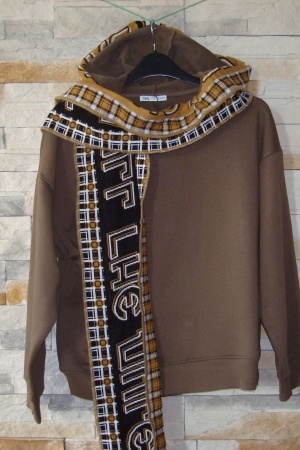 Женский свитшот с шарфом от Зара (Испания) - Зара ZR0685-cl-М