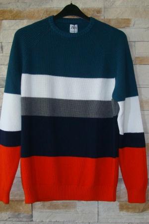 Мужской свитер в полоску Зара (Испания) - Зара ZR0711-cl-XL