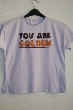 Стильная футболка для девочки Зара - Зара ZR0726-cl-134