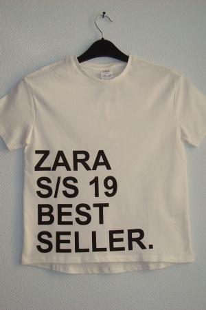 Белая футболка для девочки Зара (Испания) - Зара ZR0728-cl-140
