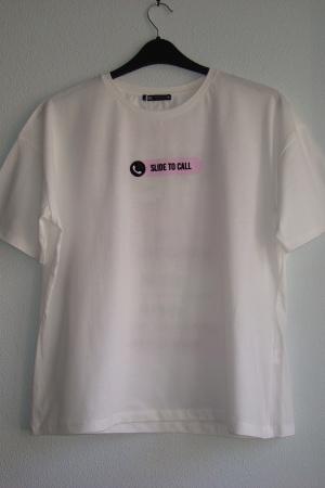 Женская футболка с принтом от Зара - Зара ZR0791*-cl-L