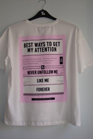 Женская футболка с принтом от Зара - Зара ZR0791*-cl-L #2