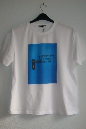 Крутая женская футболка от Зара (Испания) - Зара ZR0793*-cl-М