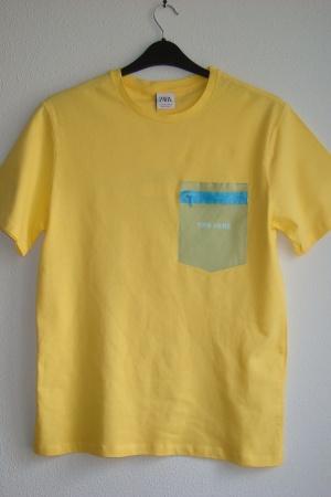 Желтая мужская футболка Зара (Испания) - Зара ZR0799-cl-М