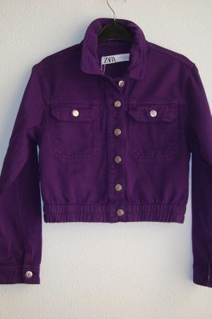 Стильный женский джинсовый пиджак от Зара (Испания) - Зара ZR0823-cl-XS