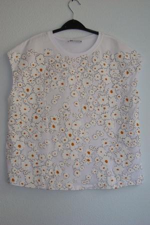 Женская футболка с ромашками от Зара (Испания) - Зара ZR0838-cl-S