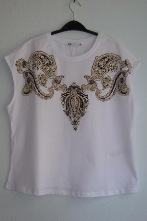 Женская футболка с узорами от Зара (Испания) - Зара ZR0839-cl-S