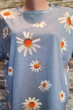 Женская футболка с ромашками  Зара   - Зара ZR0895-cl-S
