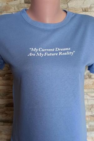 Голубая женская футболка от Зара - Зара ZR0901-cl-S