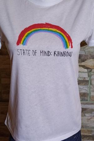 Женская футболка с радугой от Зарa (Испания) - Зара ZR0903-cl-S