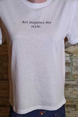 Красивая женская футболка от Зарa (Испания) - Зара ZR0906-cl-М