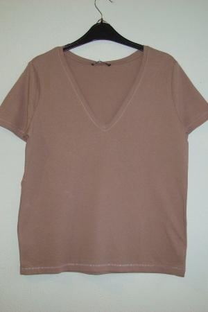 Стильная женская футболка с V-образным вырезом от  Зарa (Испания) - Зара ZR0921-cl-S